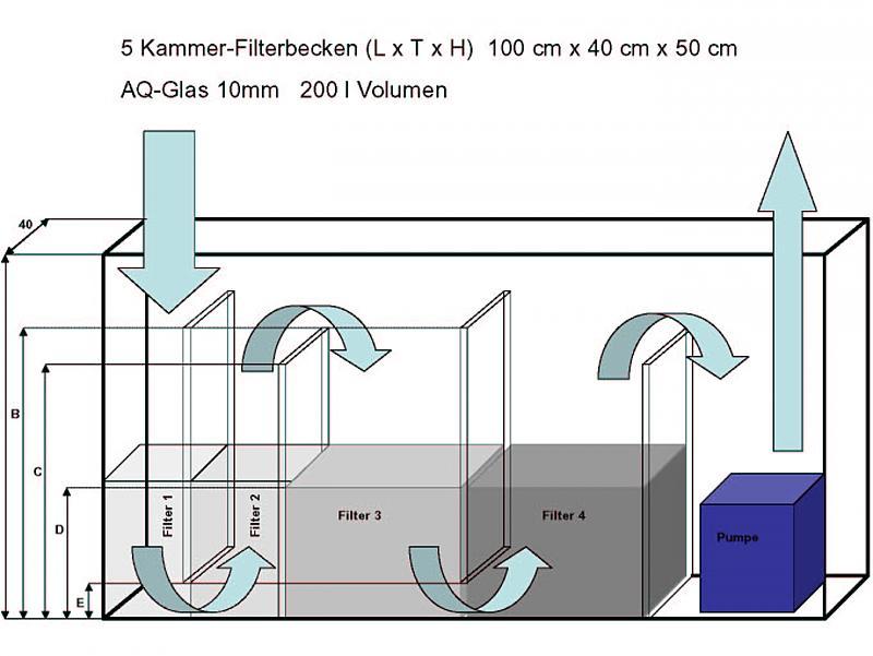 wie dimensioniere ich mein 5 kammer filterbecken. Black Bedroom Furniture Sets. Home Design Ideas